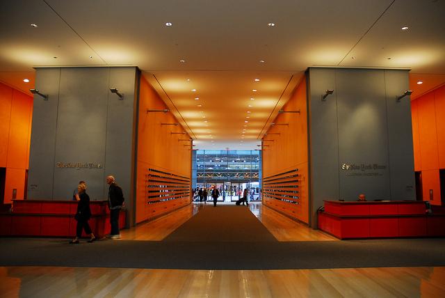 L'entrée du Siège du New York Times à Manhattan - (CC) burçak pekin