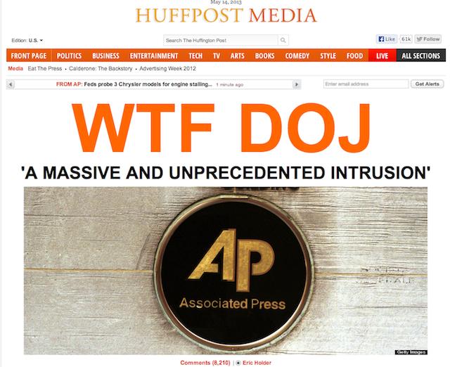 """La Une du Huffington Post hier que l'on pourrait traduire par """"C'est quoi ce bordel au Ministère de la Justice ?"""" - (CC) The Huffington Post"""