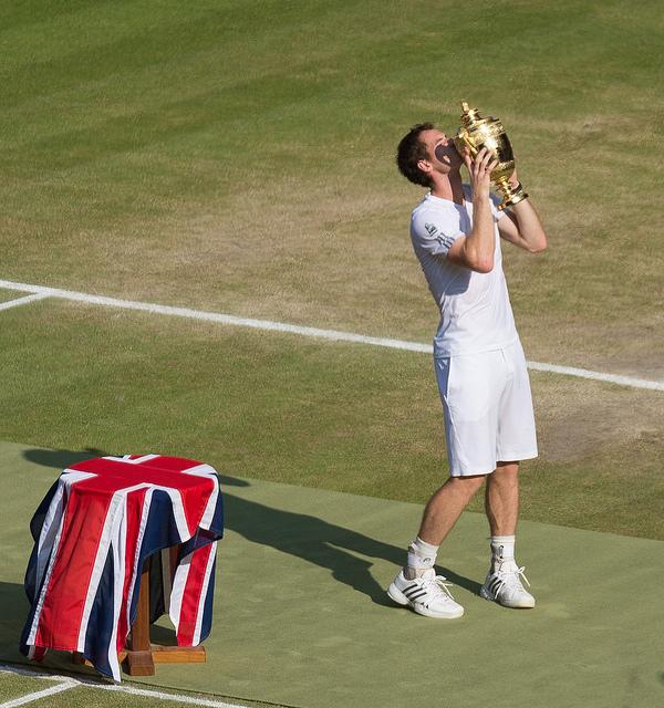 Andy Murray lors de sa victoire à Wimbledon le 7 juillet 2013 - (CC) Hilts uk
