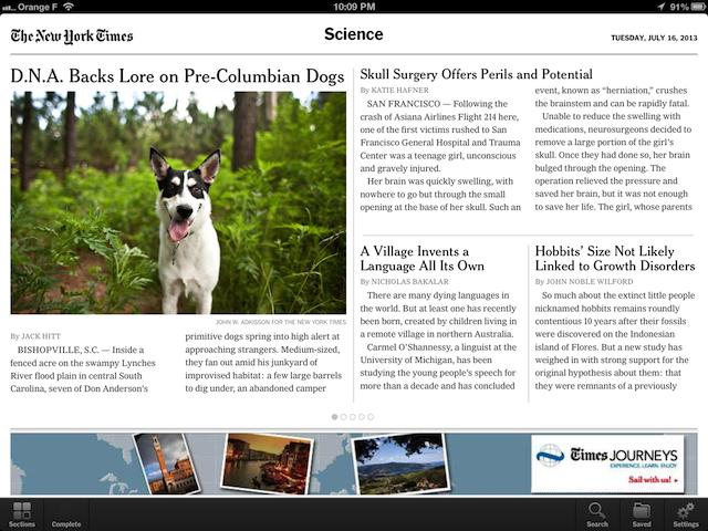 Inutile de vous dire quel article j'ai lu sur cet écran - (CC) The New York Times