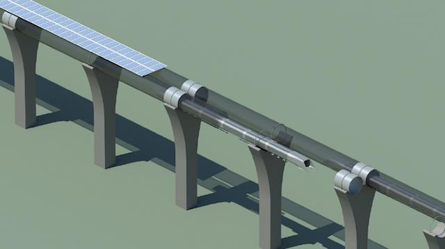 Une vue de l'Hyperloop - (CC) Elon Musk