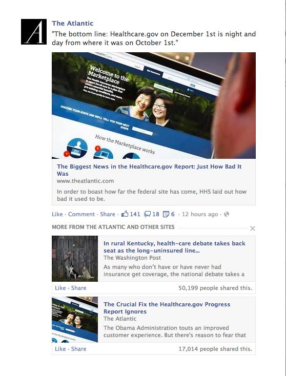 L'exemple de contenu qualitatif présenté par Facebook - (CC) Facebook, The Atlantic