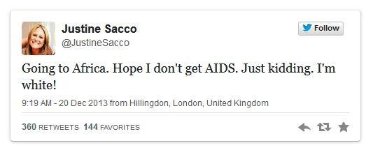 Justine Sacco @ Twitter