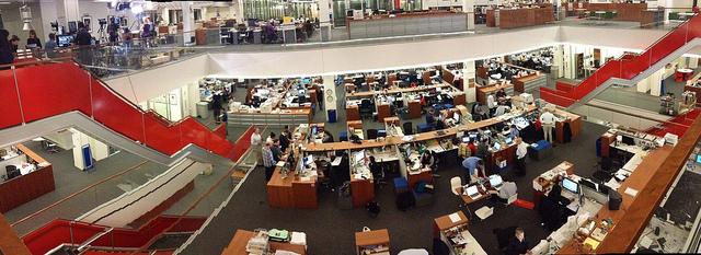 Une partie de la salle de rédaction du New York Times à Manhattan - (CC) Andrew Phelps