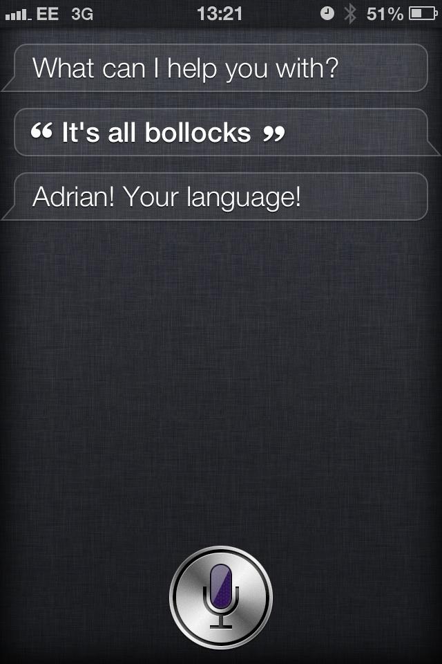 "Exemple de ""conversation"" avec Siri - (CC) Adrian Milliner"