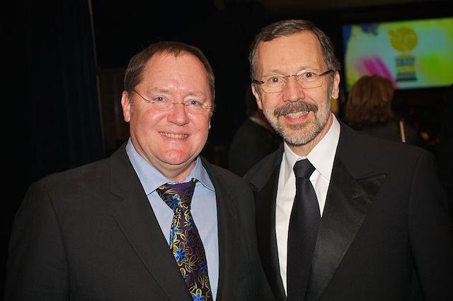John Lasseter (à gauche) et Ed Catmull - (CC) Jeff Heusser