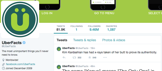 (CC) @UberFacts, Twitter
