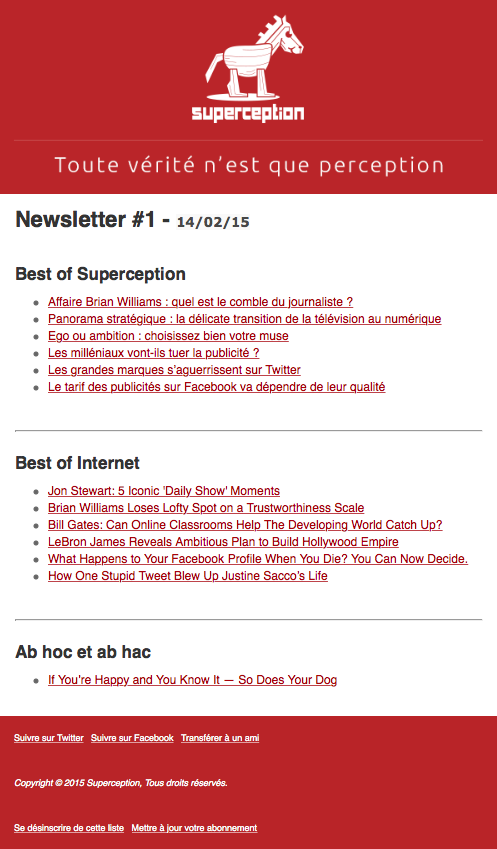 Newsletter Superception #1