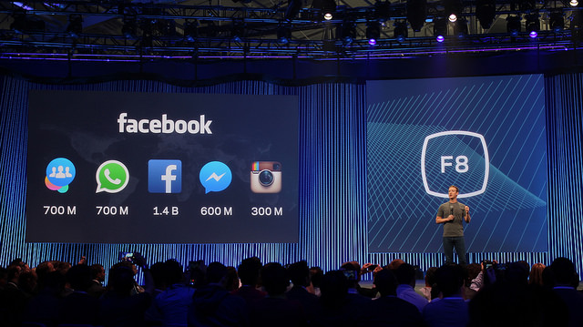 Mark Zuckerberg lors de la Conférence F8 cette semaine - (CC) Maurizio Pesce