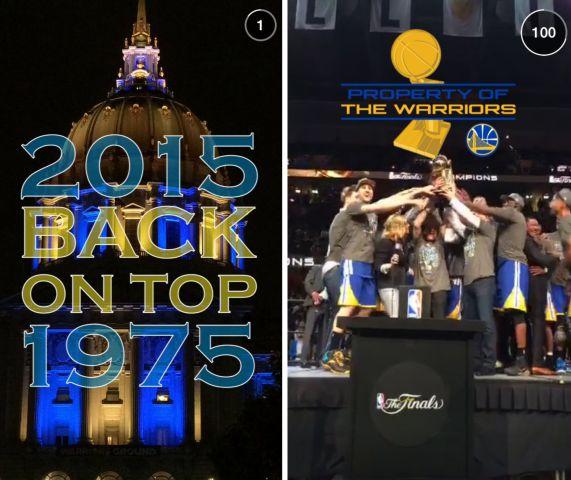 """La """"Live Story"""" relative à la victoire des Golden State Warriors en finale de la NBA - (CC) Snapchat"""