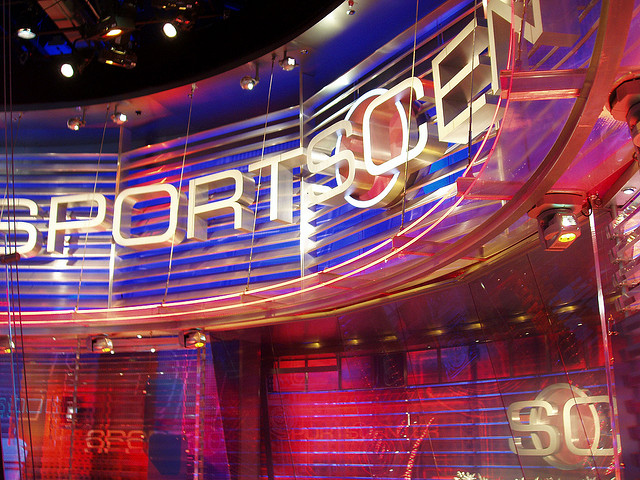 Le studio de SportsCenter, l'émission phare d'ESPN - (CC) tavarua