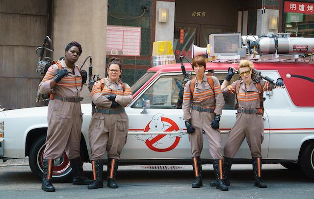 La nouvelle équipe de Ghostbusters avec Leslie Jones à l'extrême gauche - (CC) Ghostbusters