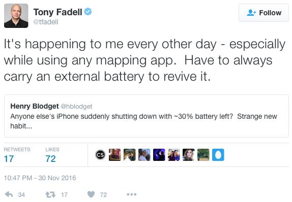 """Tony Fadell, connu comme """"l'un des pères de l'iPod"""", figure parmi les innombrables clients d'Apple déçus par la qualité de ses produits - (CC) Tony Fadell, Twitter"""