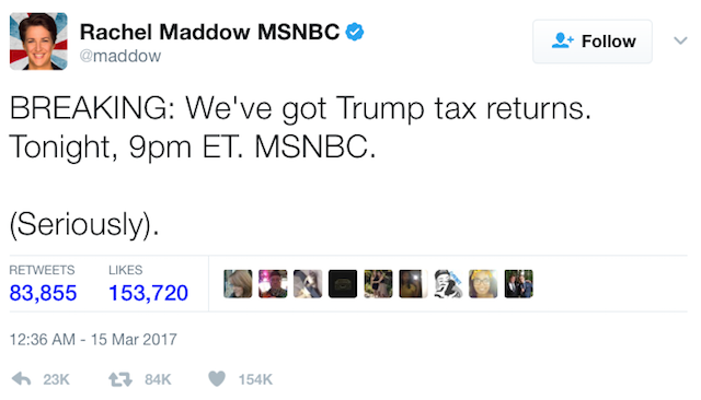 (CC) Rachel Maddow, Twitter