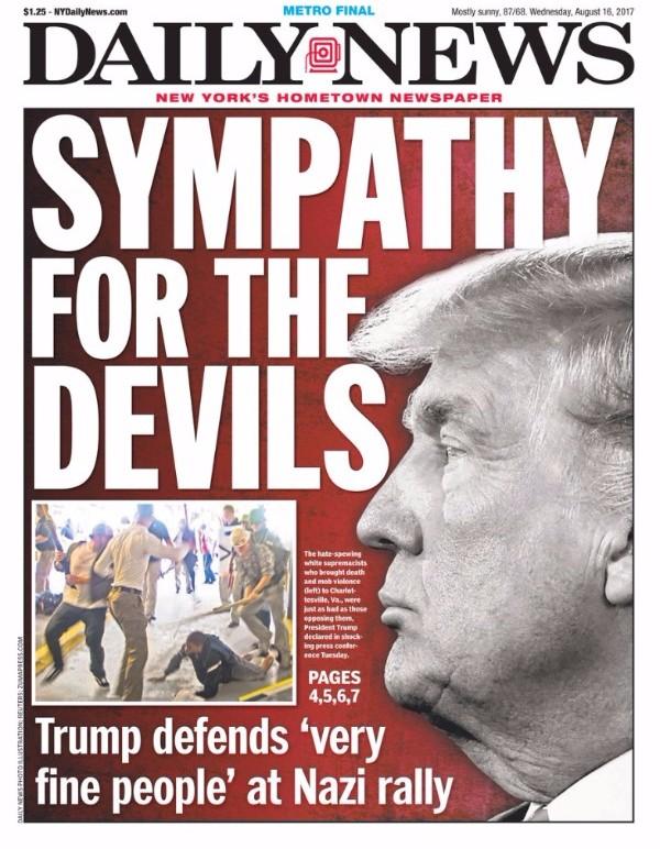 Lorsque les leçons de morale du tabloïd new yorkais The Daily News au Président américain sont justifiées, c'est que le problème est gravissime - (CC) The Daily News